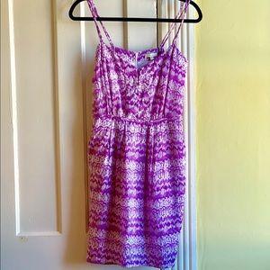 💜{Shoshanna} Purple Pattern Silk Dress💟
